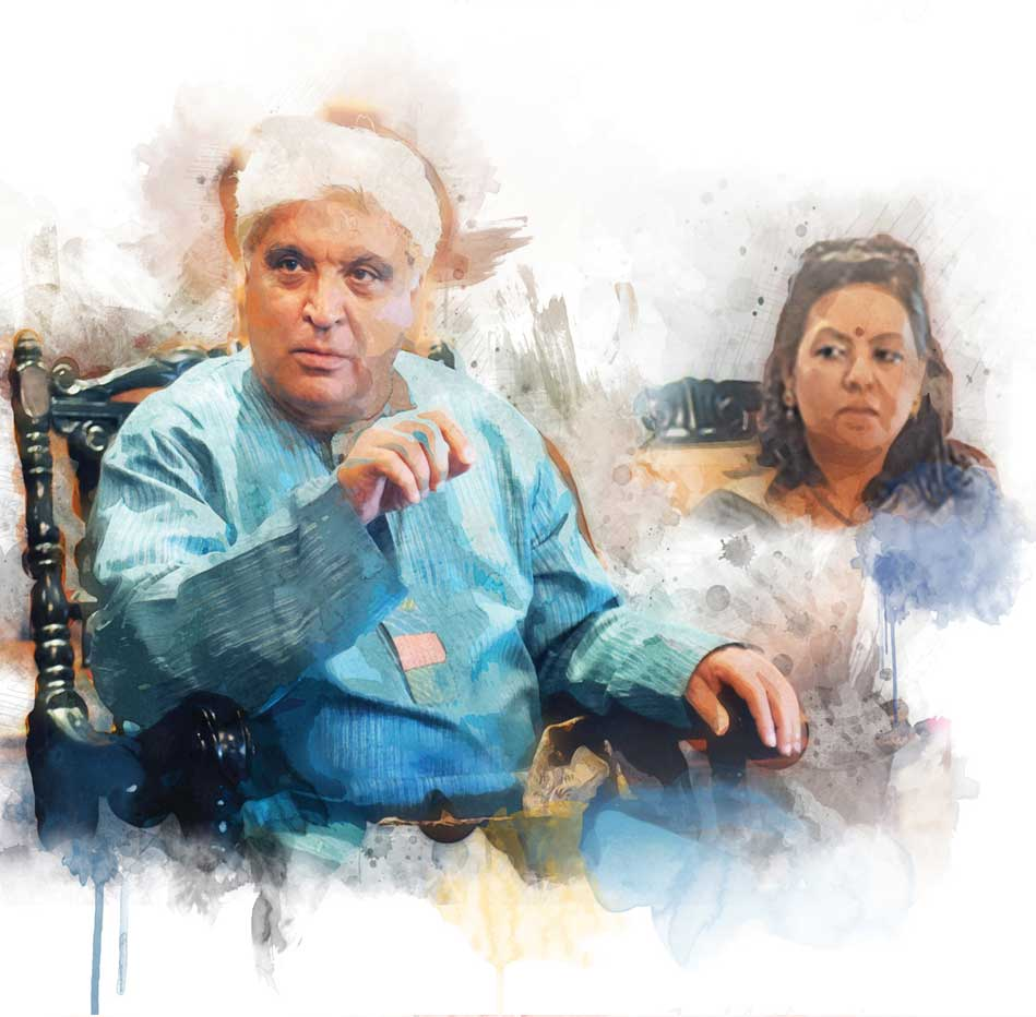 Javed-Akhtar-with-Sangeeta-Datta