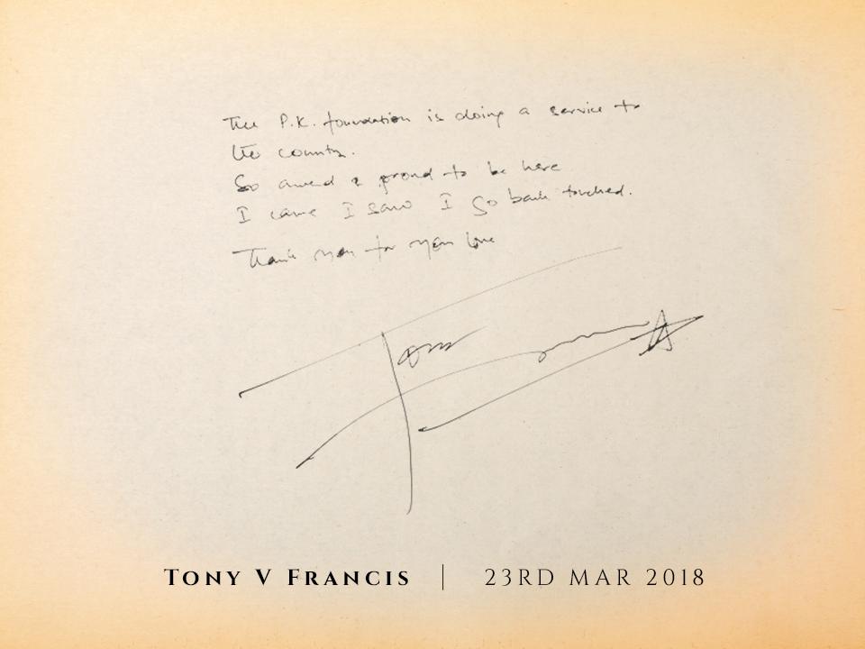 Tony V Francis