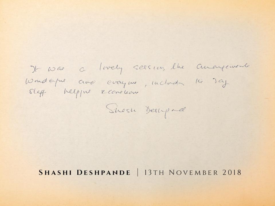 shashi deshpande without logos
