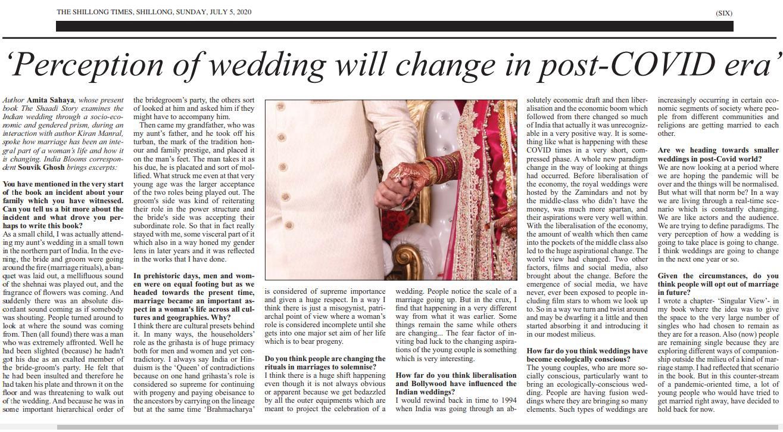 5 July 2020 Shillong Times Amita Sahaya